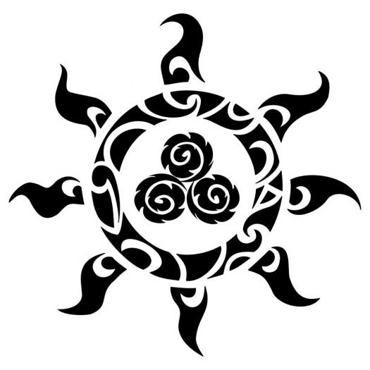 le sens des symboles de tatouage polyn siens. Black Bedroom Furniture Sets. Home Design Ideas